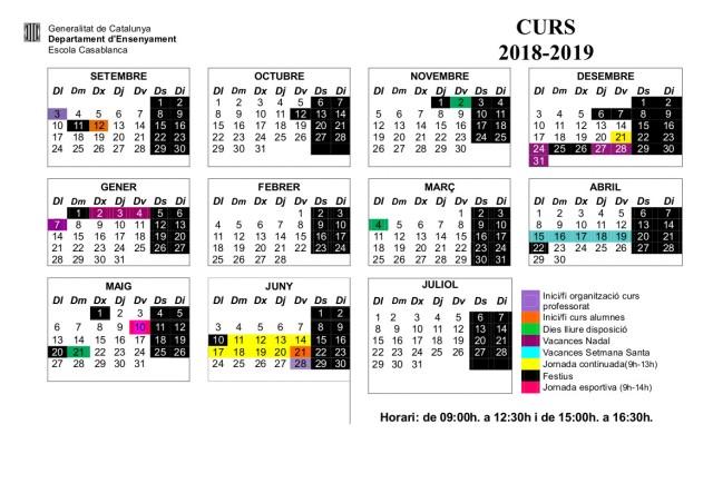 Calendario 18-19